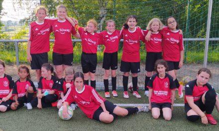 Neue D-Juniorinnen: Erstes Freundschaftsspiel gegen Kickers Aschaffenburg